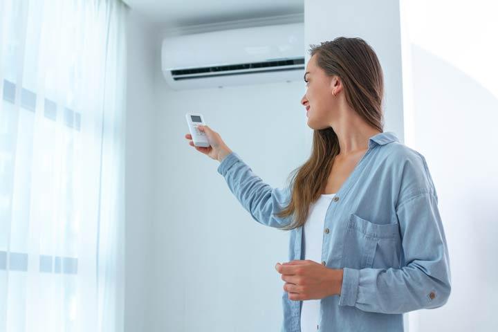 Einstellung der Klimaanlage