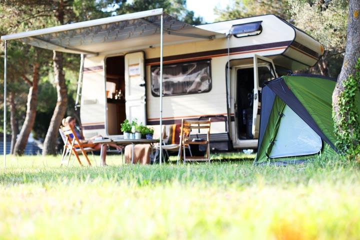 Unterkunft beim Campingurlaub